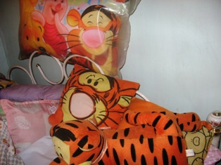 tigger by my headboard