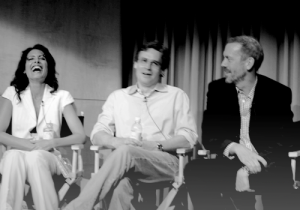 Lisa Edelstein (Lisa Cuddy), Robert Sean Leonard (James Wilson) and Hugh Laurie (Gregory House) during the INSIDE HOUSE event at The Paley Center For Media in Los Angeles on June 17, 2009.