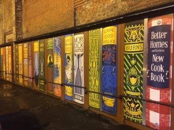 An alley beside Brattle Bookshop!